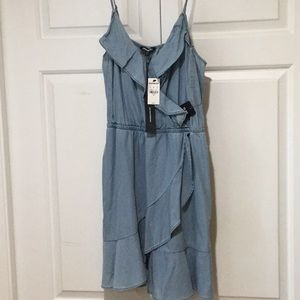 Express brand Light blue soft denim like sundress